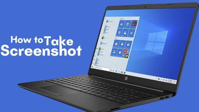screenshot on hp laptop tool