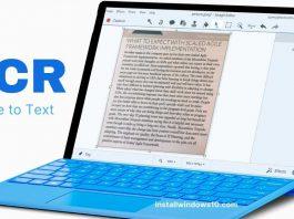 OCR for Windows 10