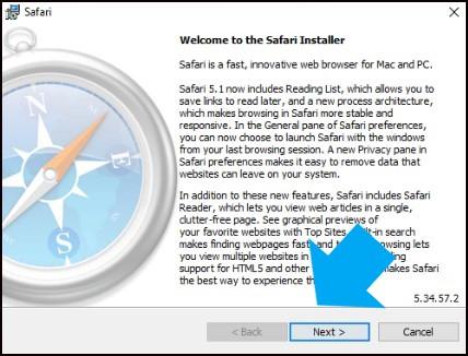 Safari Windows 10